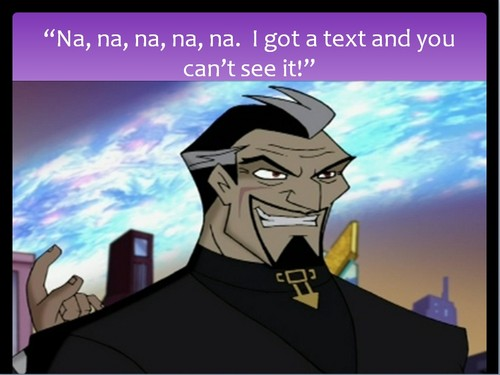 When Cronus gets a text . . .