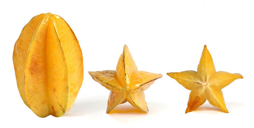 Yellow and Green Starfruit