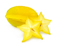 Yellow and Green Starfruit - colors photo