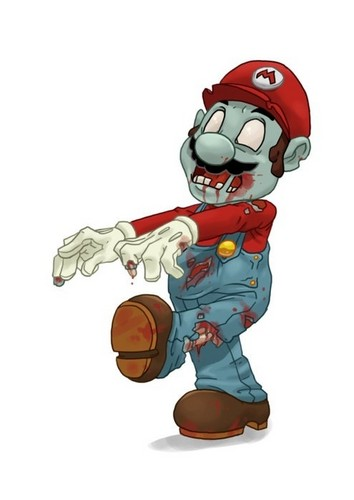 Zombies wallpaper titled Zombie Mario