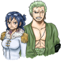 Zoro and Tashigi - one-piece photo