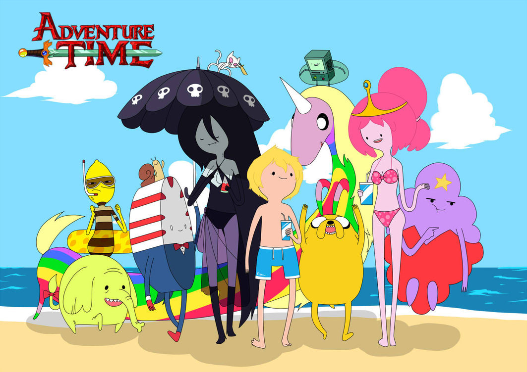 adventure time ビーチ