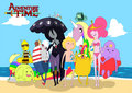 adventure time de praia, praia
