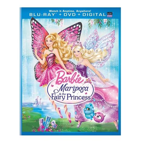barbie mariposa the fairy princess dvd and blu-ray