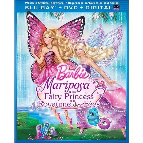 बार्बी mariposa the fairy princess dvd and blu-ray