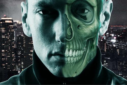 eminem Half skull scary