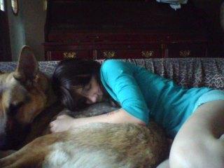 Girl Sleeping With Her Dog Saw Photo 34783882 Fanpop