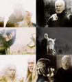 Barristan Selmy & Daenerys Targaryen - game-of-thrones fan art