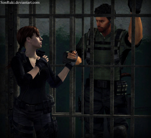 Resident Evil wallpaper containing a holding cell, a penal institution, and a cell titled jill and chris