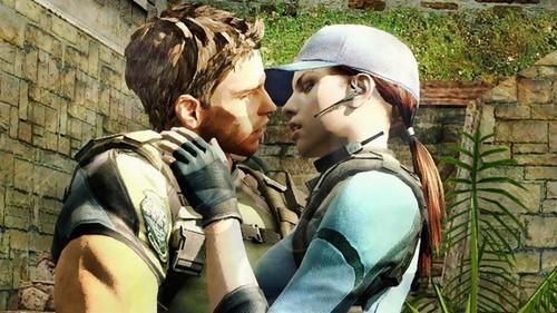 Resident Evil wallpaper with a green beret, a rifleman, and battle dress titled jill and chris
