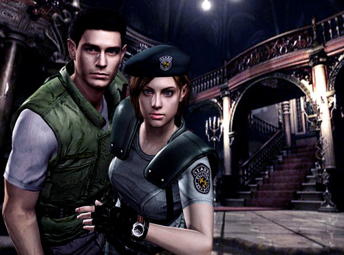 resident evil wallpaper containing a rua called jill and chris