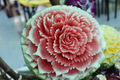 water mellon flower carving