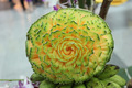 rock melon flower carving