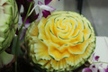 yellow water melon carving