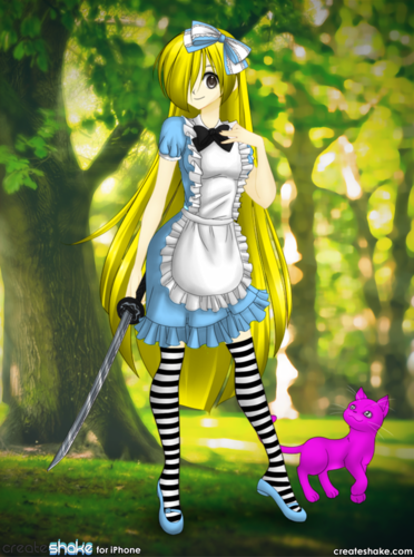 Alice in Wonderland (2010) wallpaper titled my anime version of Alice :3