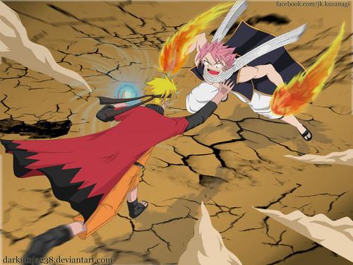 Naruto and natsu