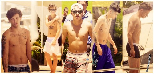 One Direction achtergrond possibly containing a hunk, a six pack, and swimming trunks titled one direction shirtless 2013