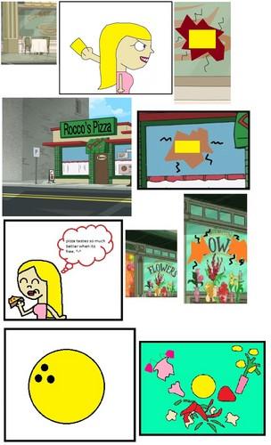 p&f freaky sunday comic page three