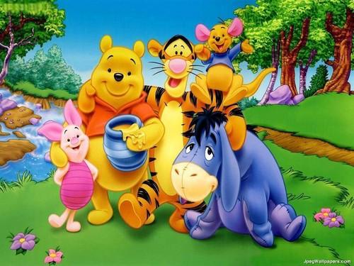 প্রথমশ্রেণীর ডিজনি দেওয়ালপত্র entitled pooh