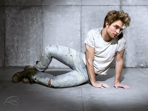 Robert Pattinson wallpaper probably containing bare legs and a hip boot called sexy Robert manips
