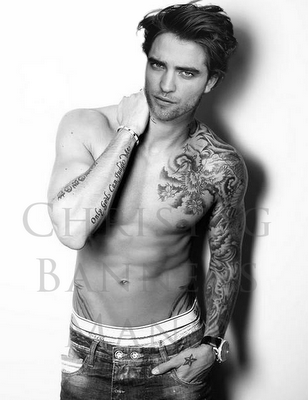 Robert Pattinson kertas dinding entitled sexy Robert manips