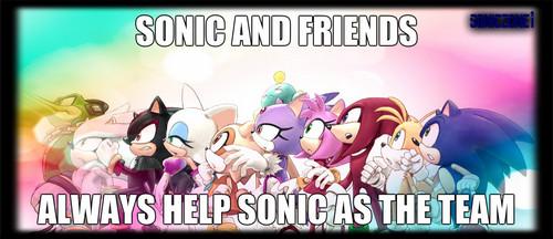 sonic and 老友记 (sonic team)