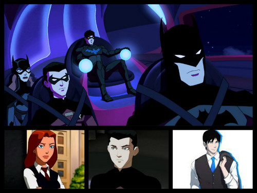 Young Justice wallpaper probably containing anime called the bat family