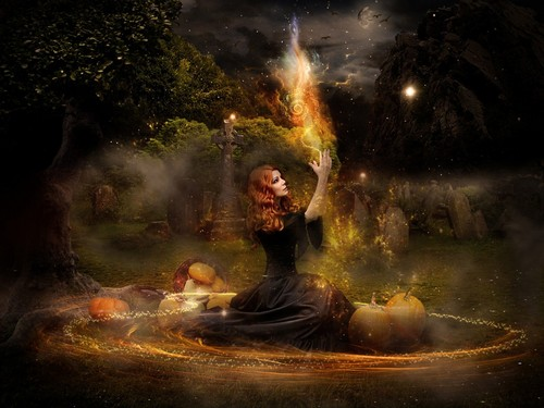 Witchcraft wallpaper containing a fire, a fire, and a fountain entitled witch