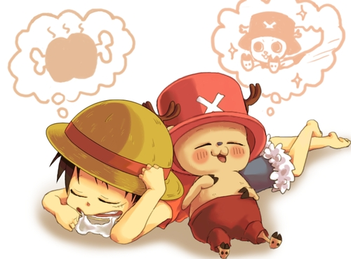 Monkey D. Luffy karatasi la kupamba ukuta called *Luffy & chopper*