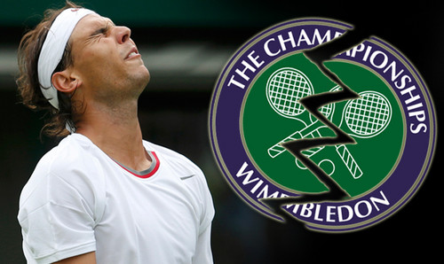 Rafael Nadal says goodbye to Wimbledon in the first round.