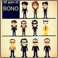 30 years of Bono - u2 fan art