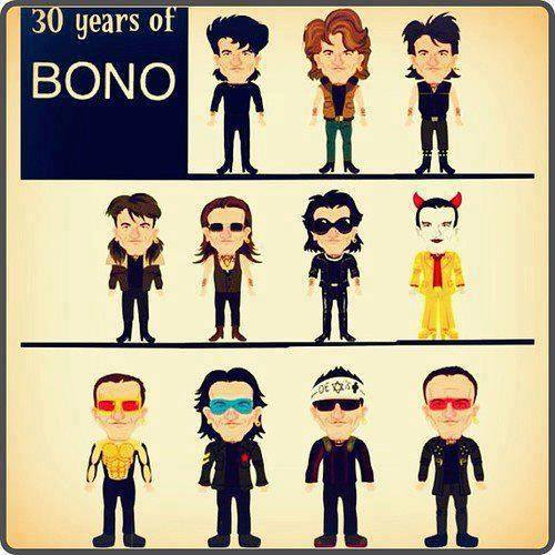 U2 wallpaper with anime entitled 30 years of Bono