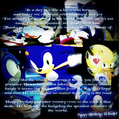 A tribute to Sonic