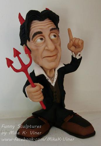 Al Pacino caricature sculptures sejak Mike K. Viner