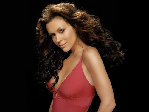 Alyssa Milano kertas dinding probably containing a bustier entitled Alyssa Milano kertas dinding