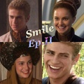 "Anakin and Padme ""smile"" - star-wars-attack-of-the-clones fan art"