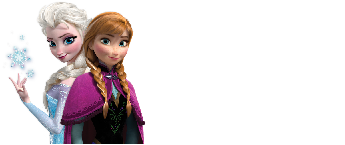 Anna and Elsa with longer background