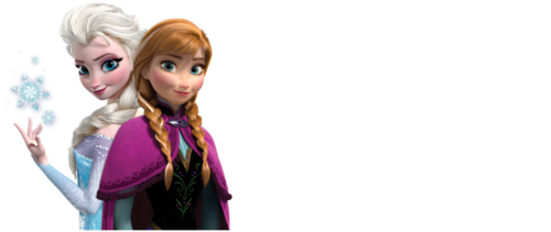 Frozen kertas dinding titled Anna and Elsa with longer background