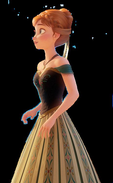 Anna in her green dress