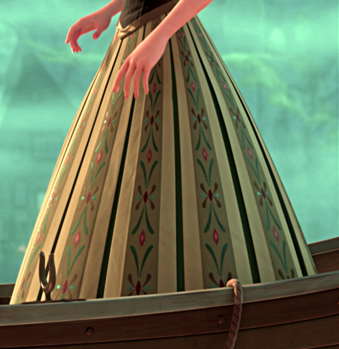 Anna in her green dress