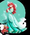 Walt disney gambar - Princess Ariel & Sebastian