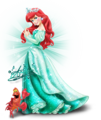 Walt ডিজনি প্রতিমূর্তি - Princess Ariel & Sebastian