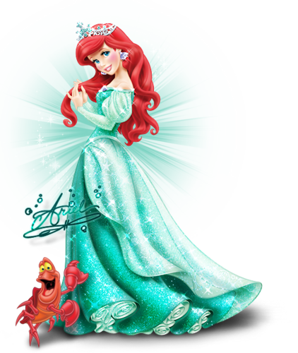 Princesses Disney fond d'écran entitled Walt Disney images - Princess Ariel & Sebastian