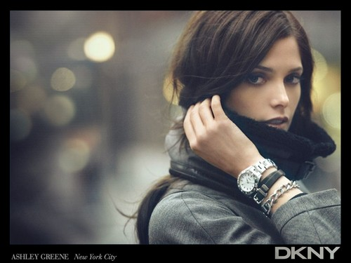 Ashley Greene wallpaper possibly with a hood, an overgarment, and a portrait called Ashley