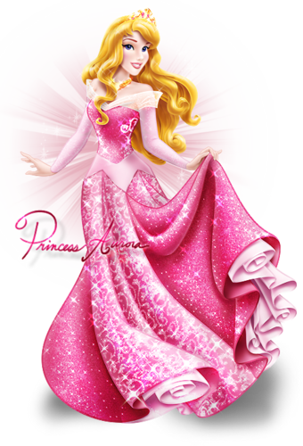 Disney-Prinzessin Hintergrund possibly with a tutti frutti, a frosted layer cake, and a cupcake entitled Aurora