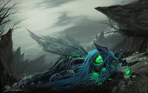 MLP FIM Queen Chrysalis fond d'écran with a pacific sardine called Awesome Chrysalis pics