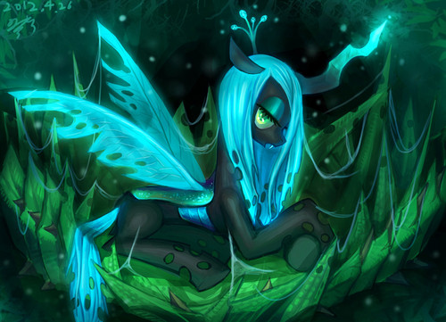 MLP FIM Queen Chrysalis fond d'écran probably with a red cabbage entitled Awesome Chrysalis pics