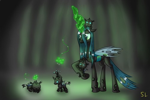 MLP FIM Queen Chrysalis fond d'écran entitled Awesome Chrysalis pics