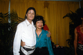 Backstage With A Fan During The Victory Tour - michael-jackson photo
