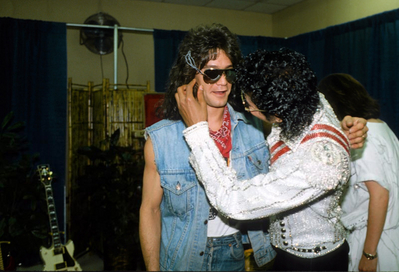 Backstage With Eddie van Halen During The Victory Tour